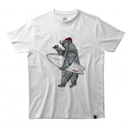 T-shirt with bear with surfboard
